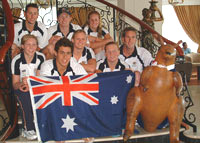 Australian Team and Hornbag 2004